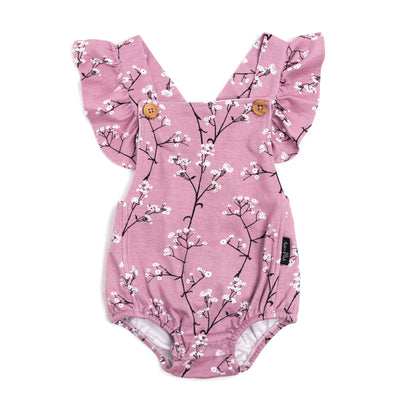 Aster & Oak Organic MAGICAL GARDEN Baby's Breath Cross Back Playsuit
