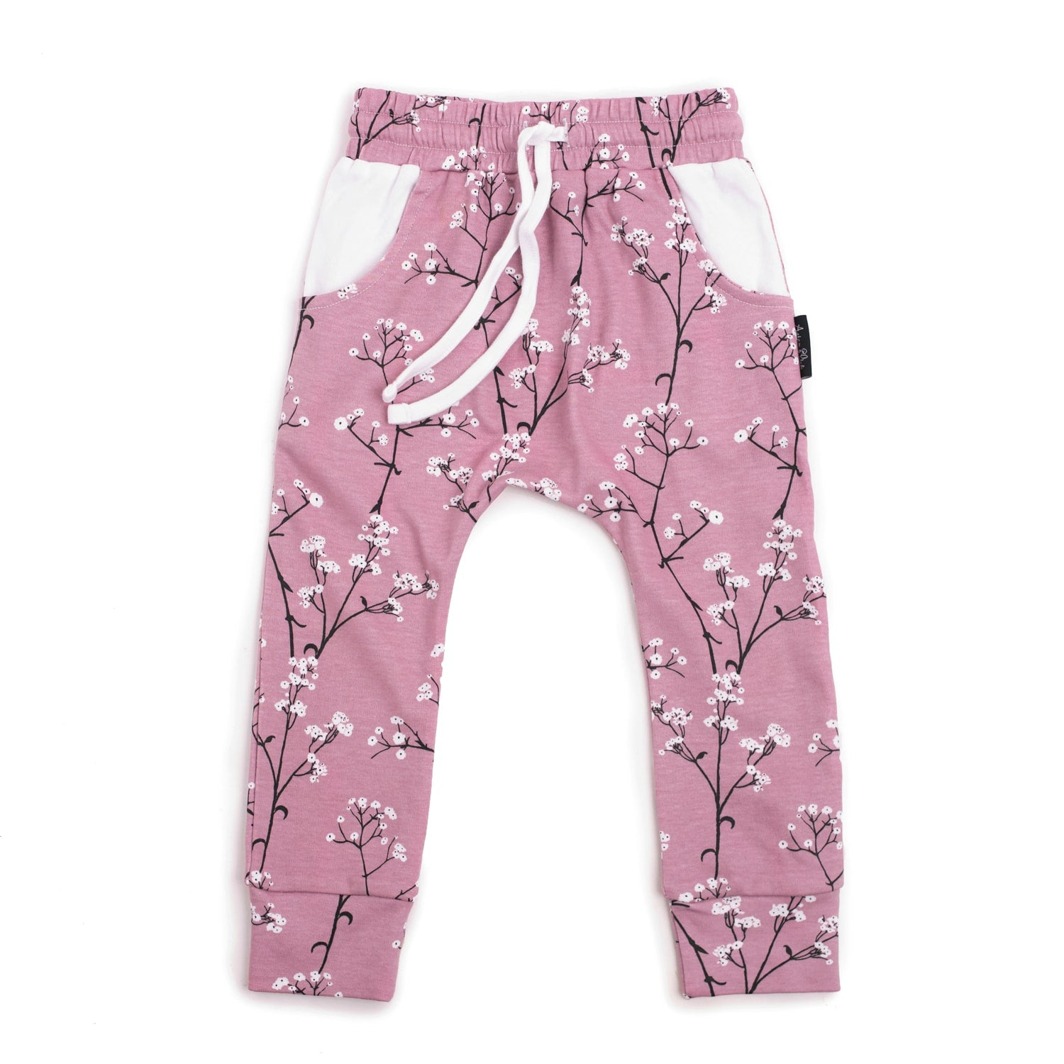 Aster & Oak Organic MAGICAL GARDEN Baby's Breath Harem Pants