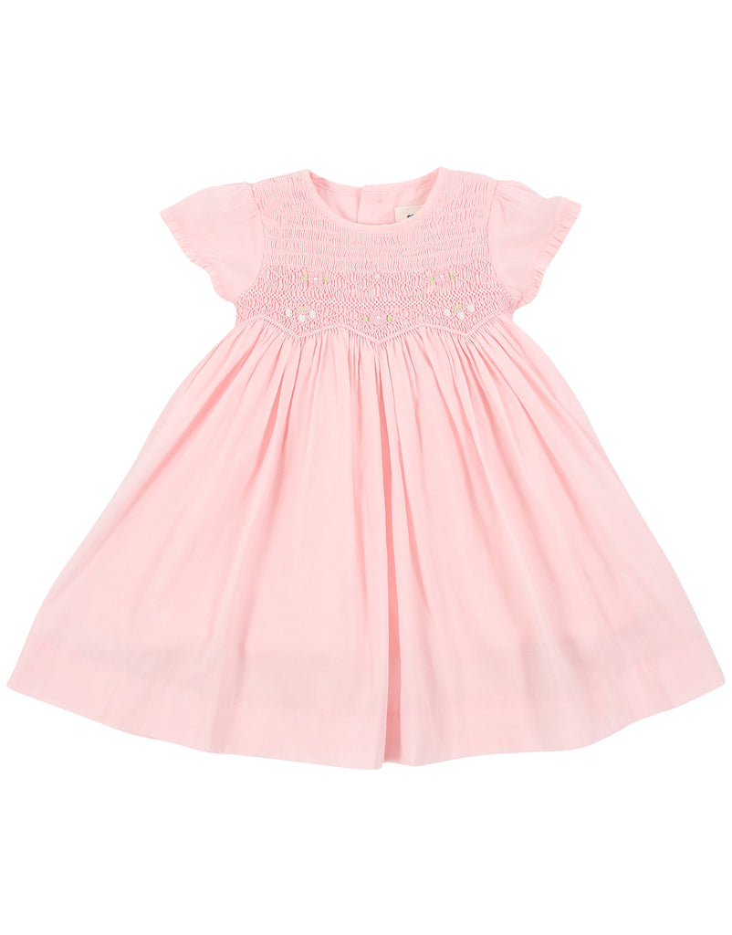 Sweet Style Timeless Smocked Dress - Baby Pink