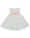 KORANGO Sweet Style Sleeveless Smocked Dress - White