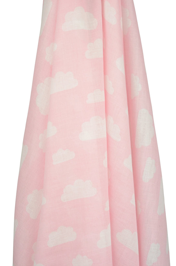 Clouds Muslin Wrap (Blue / Grey / Pink)