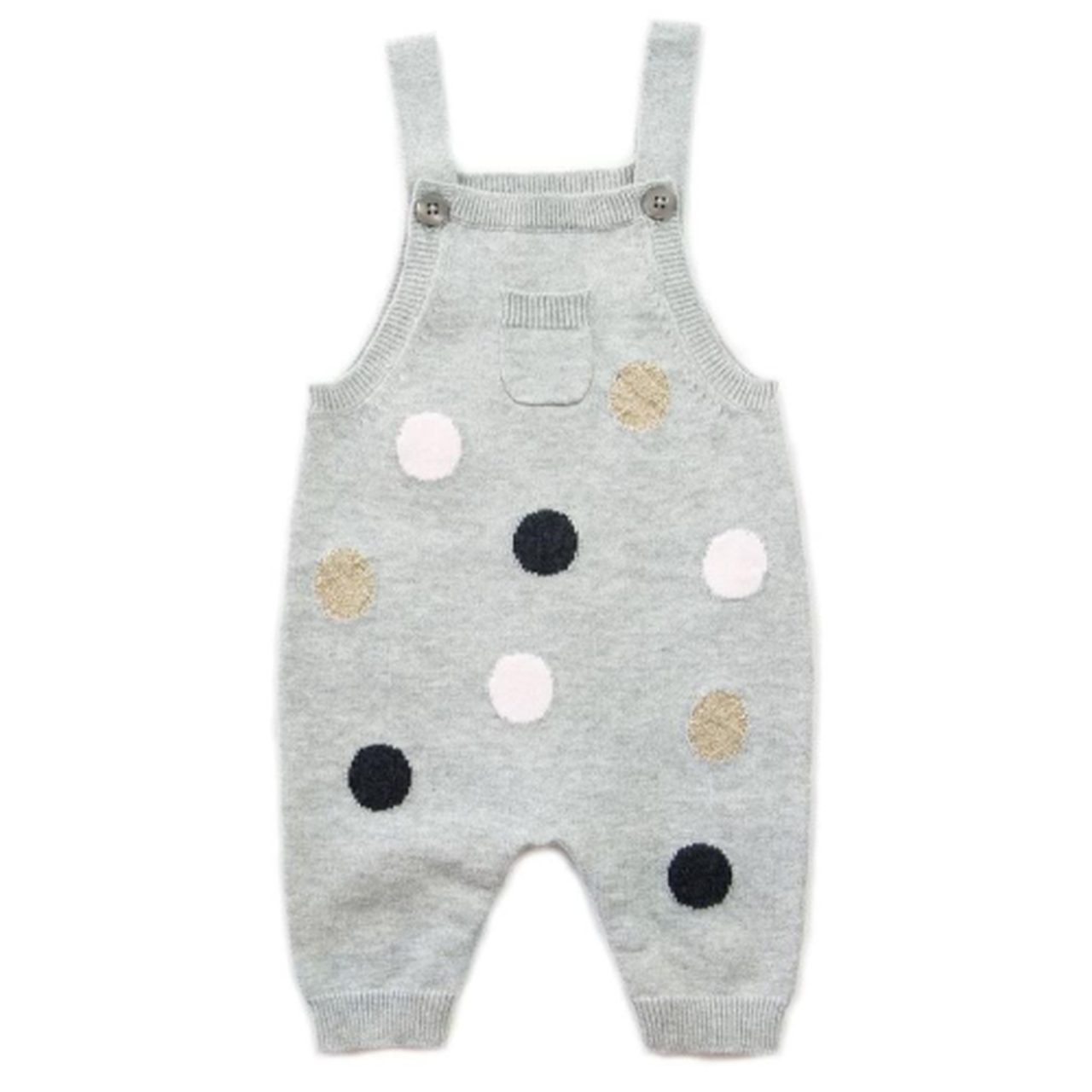 BEANSTORK - Big Spot Overall Grey / Marle