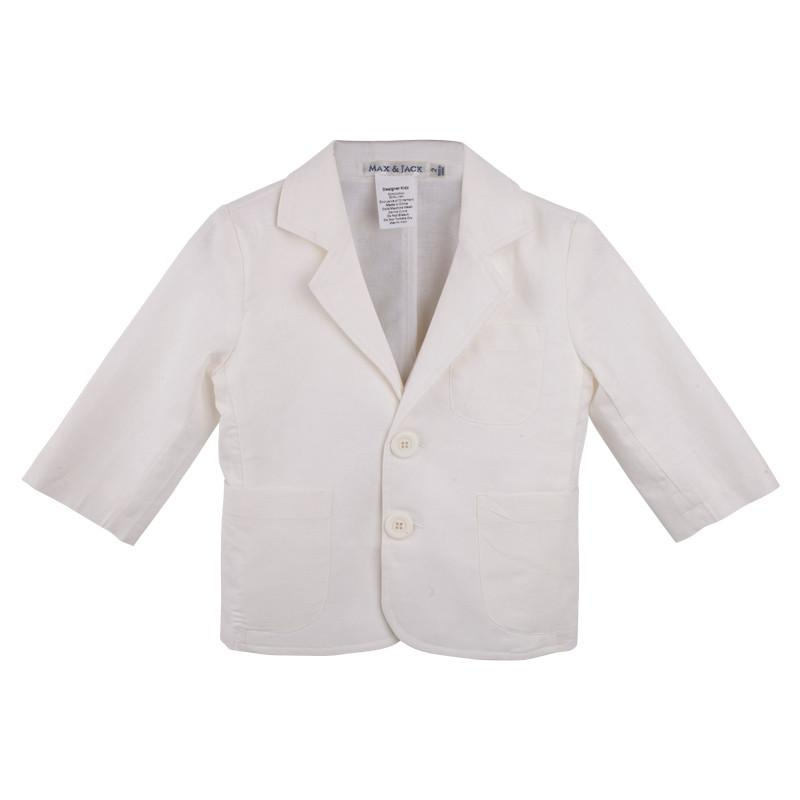 DESIGNER KIDZ Ben Tailored Jacket - Ivory