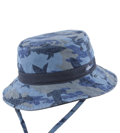 Millymook Dozer Boy Bucket Hat - Reef Blue