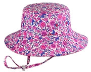 Millymook Girls Floppy Hat – Ruby Pink