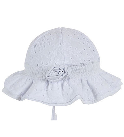 Millymook Baby Girls Bell Hat - Agapantha White