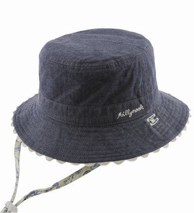Millymook Baby Girls Bucket Hat - Blue Maisy