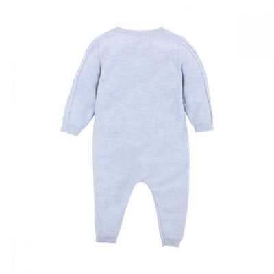 BÉBÉ by MINIHAHA - ALFIE Powder Marl Knit Zip Romper