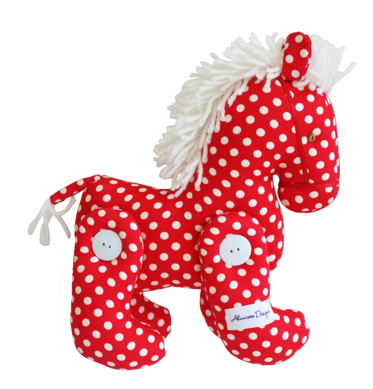 Alimrose Jointed Pony Red Spot 22cm