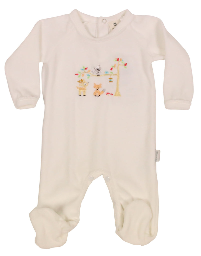 Forest Friends Velour Romper