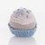 PEBBLE Cupcake Rattle Organic Blue