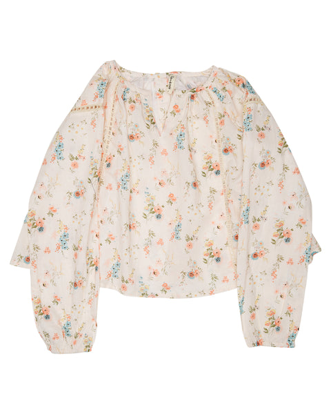 Island State Co - Floral LS Blouse Pink