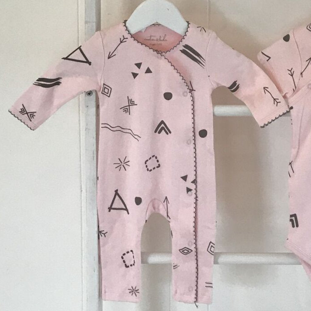 EMOTION & KIDS Pink Doodle Long Leg Onesie