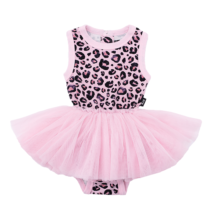 Rock Your Baby PINK LEOPARD Singlet Circus Dress