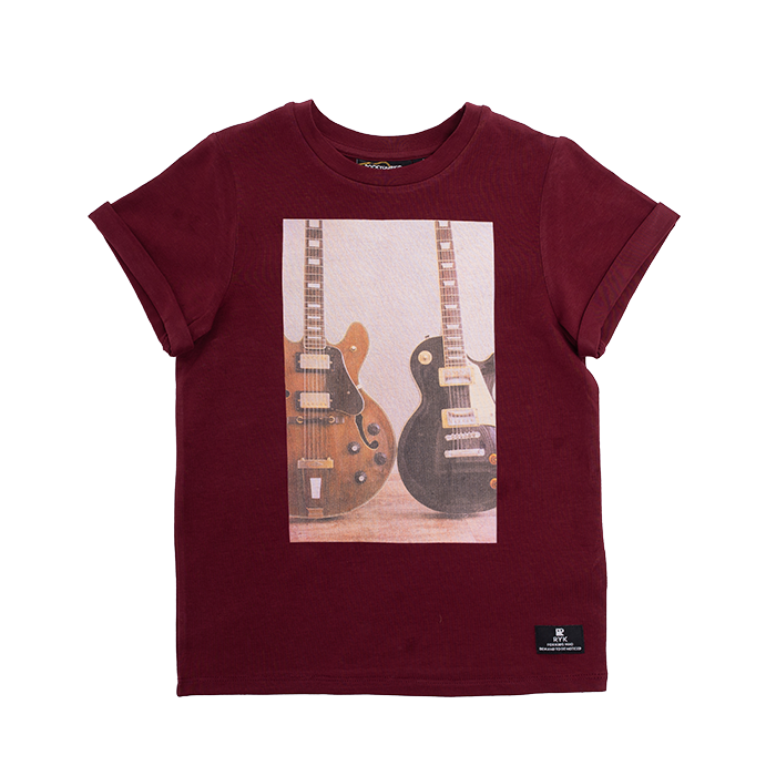 Rock Your Kid BURGUNDY WONDERWALL T-SHIRT