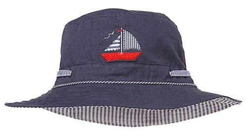 Toshi Sunhat - Nautical Navy
