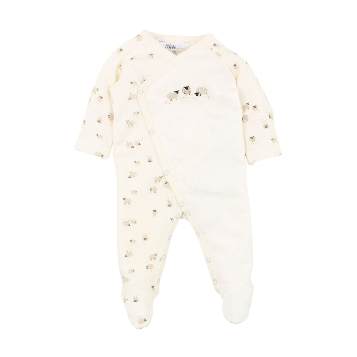 BÉBÉ by MINIHAHA - SHEEP Print Wrap Romper