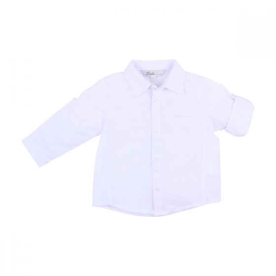BÉBÉ by MINIHAHA - Baby LOUIS LINEN Cloud Long Sleeves Shirt