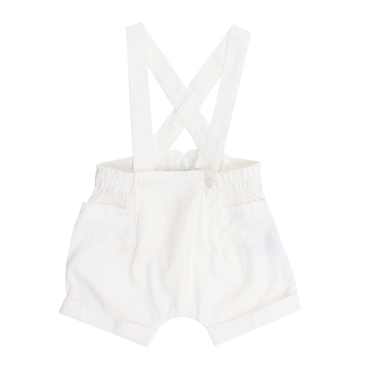 BÉBÉ by MINIHAHA - Special Occasion Ivory Boys Woven Overall
