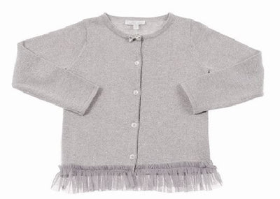 BRITT Sparkle Cardigan - Metallic Cloud (18-24 months)