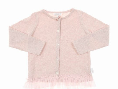 BRITT Sparkle Cardigan - Metallic Rose (18-24 months)