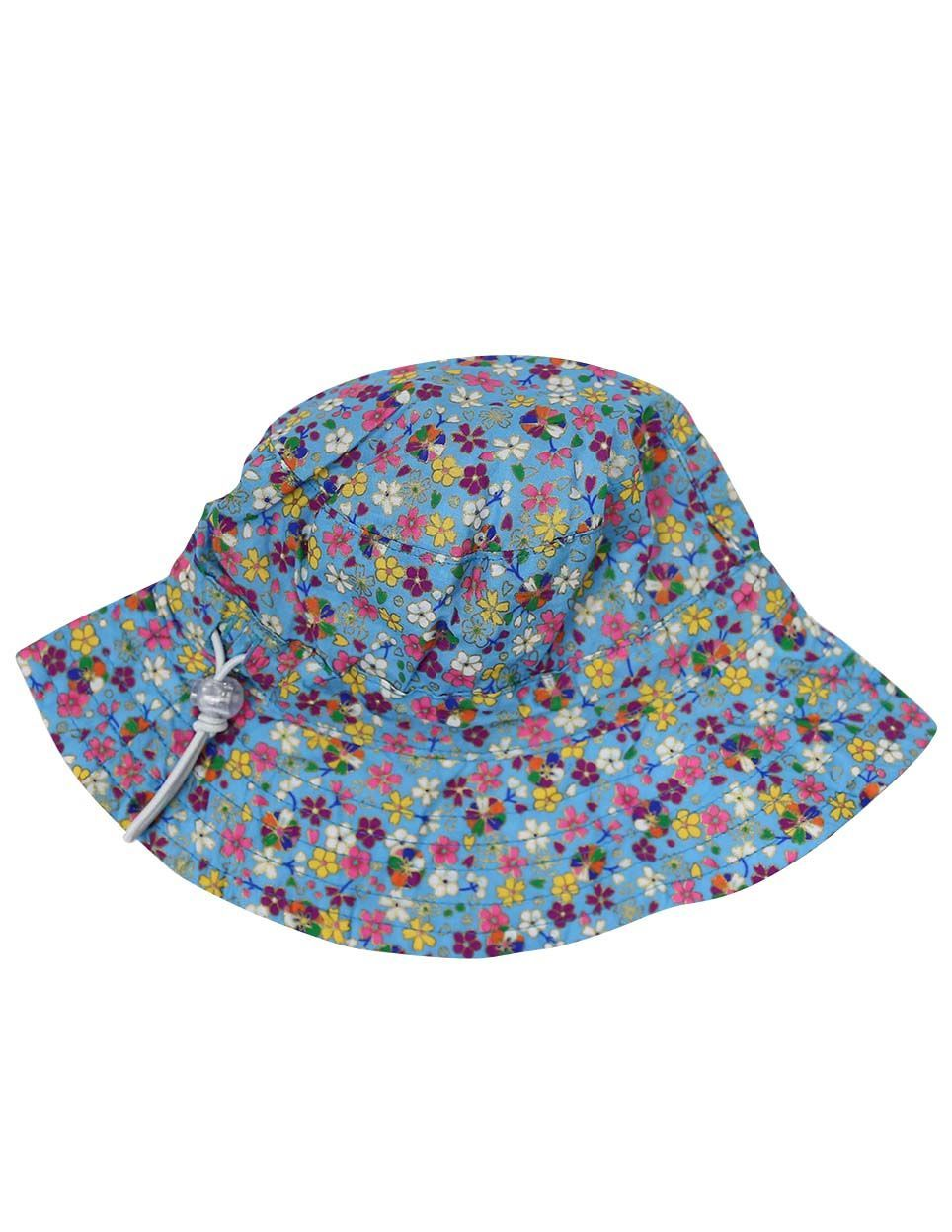 KORANGO Floral Hat in Blue