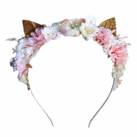 Arch N Ollie Cat Blossom - Blushing (Headband)