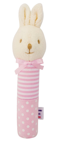 Bunny Squeaker - Pink White Spot Stripe