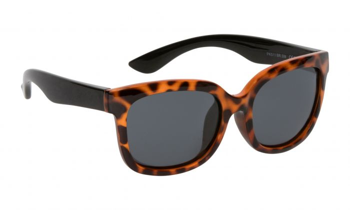 Ugly Fish Mermaid Polarised - Leopard Print Black Frame Smokes Lens
