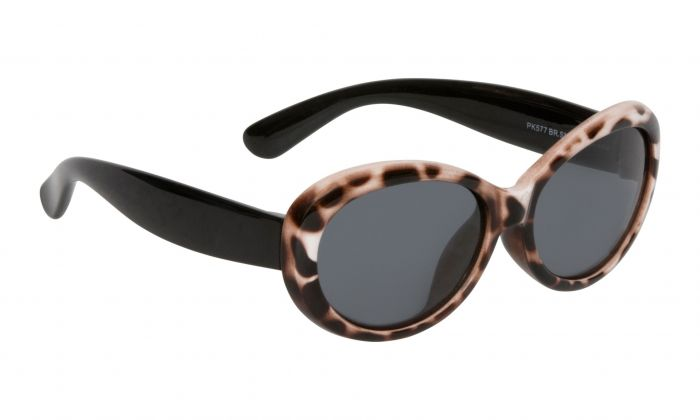 Ugly Fish Mermaid Polarised - Cheetah Print Black Frame Smokes Lens