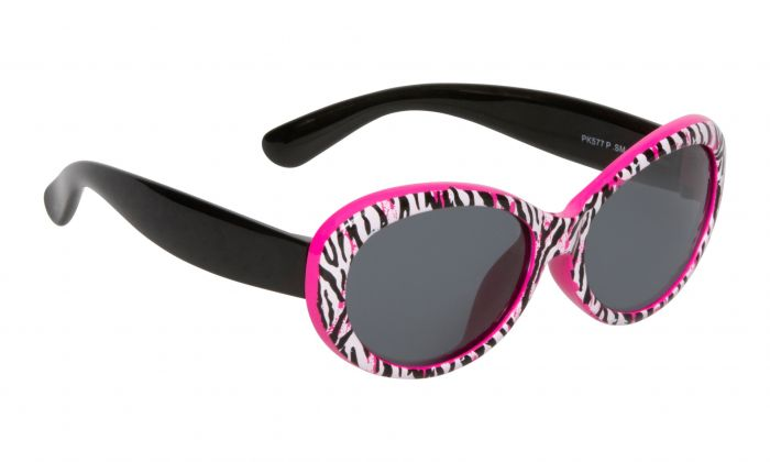 Ugly Fish Mermaid Polarised - Pink Tiger Print Black Frame Smokes Lens