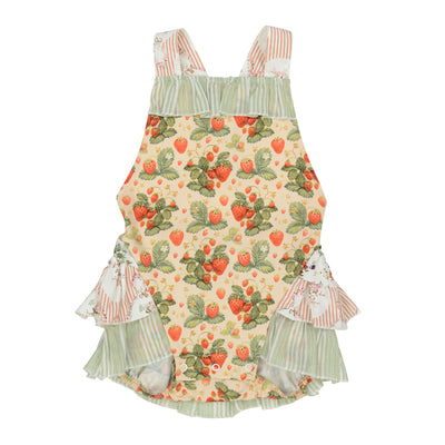 Arthur Ave - Strawberry  Playsuit / Strawberry Overalls
