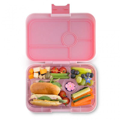 Yumbox Tapas Box Amalfi Pink - 5 compartment tray