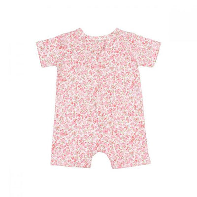 WHITE LABEL by MINIHAHA - FLORAL Short Sleeves Romper