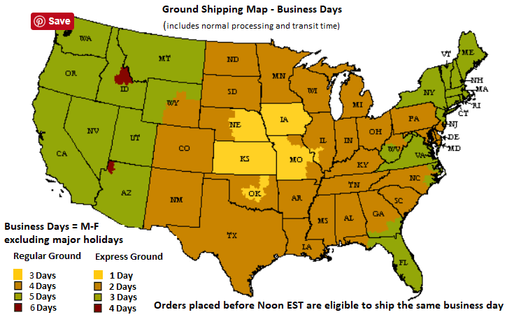 Carnival Source Ground Shipping Map