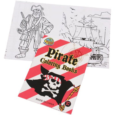 Pirate Pirate Coloring Books (One Dozen) - Party Themes