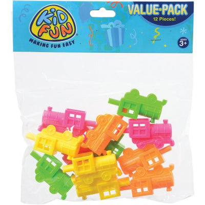 mini neon train whistles  - Carnival Supplies