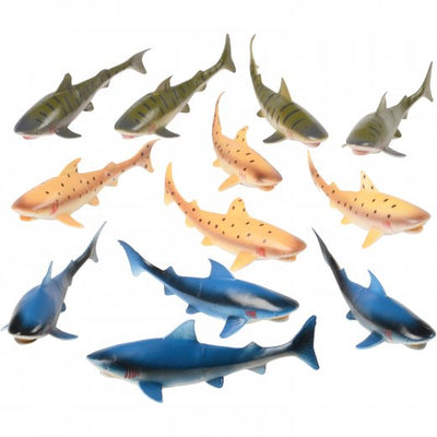 Toy Sharks - 8 Inch (1 Dozen) - Toys