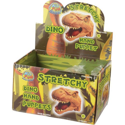 stretchy dino hand puppet pack of 6 cs 4488   Novelties and Toys