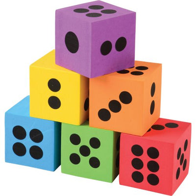 Foam Dice - 2.5 Inch (one dozen) - Party Themes
