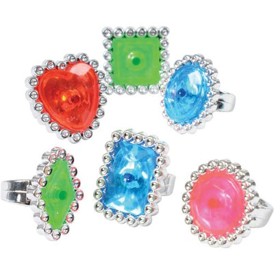 Jumbo Jewel Rings (1 Dozen) - Costumes and Accessories