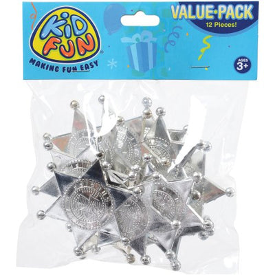 silver sheriff badges  - Carnival Supplies