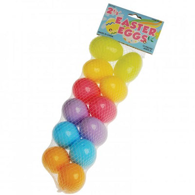 Plastic Eggs - 2.5 Inch (one dozen eggs) - Holidays