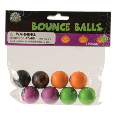 Halloween Bounce Balls 27Mm (set of 8) - Holidays