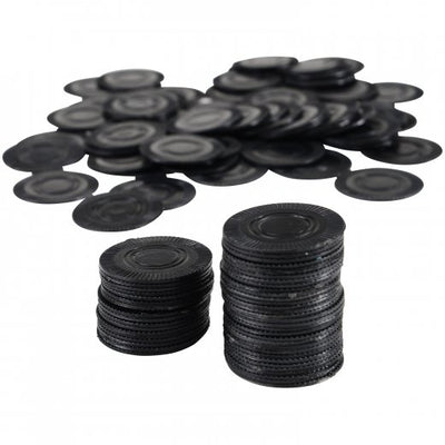 Black Poker Chips (bag of 100) - Party Themes