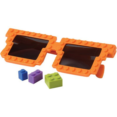 block mania toy glasses pack of 12 cs gl50  - Carnival Supplies