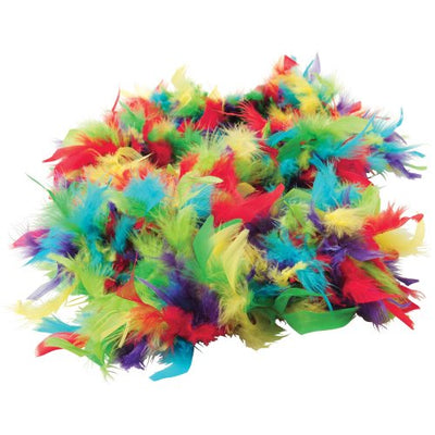 multi color feather boa  - Carnival Supplies