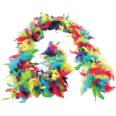 Multi-color Feather Boa - Costumes and Accessories