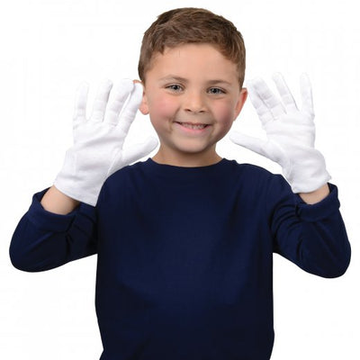 white gloves child size - Carnival Supplies
