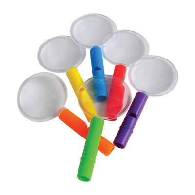 Whistle Magnifying Glasses (One Dozen) - Novelties